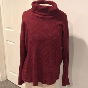 Forever 21 maroon turtle neck sweater long sleeve